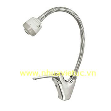 Vòi chậu rửa bát nóng lạnh ống mềm, vòng, chậu – T-CH152