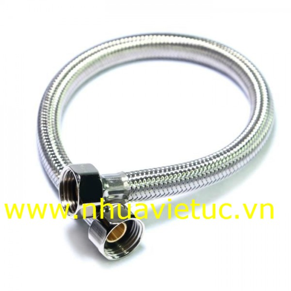 Dây cấp Inox 304, đầu đồng, có tay vặn - T023